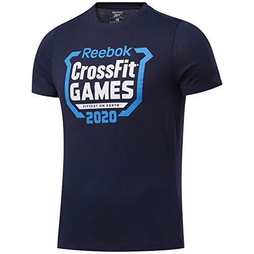 Reebok RC Games Crest tee Camiseta, Hombre, vecnav, XS