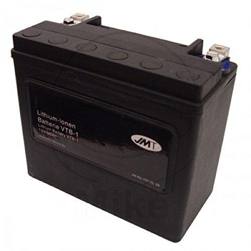 JMT LITHIUM-IONEN Motorrad Batterie V-Twin 12 Volt für V2 Motoren   LiFePO4   VTB-1 passend für Harley Davidson FLD 1690 Dyna Switchback ABS, GZM, Bj. 2015 [Preis ist inkl. Batteriepfand]