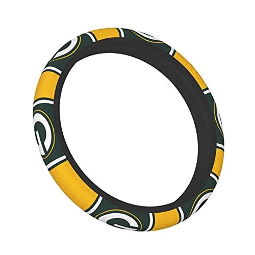 Team ProMark Green Bay Packers Steering Wheel Cover,American Football Design,Elastic Anti-Slip Car Wheel Covers Protector for Men Women,Odorless 15inch