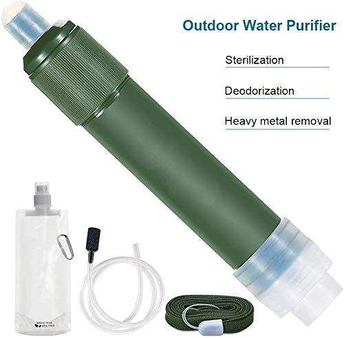 J & J Outdoor Wasserfilter tragbare Mini-Wasserfilter Straw Reiniger Personal Water Purifier im Freienüberlebens-Gang für Camping Wasserbehandlung