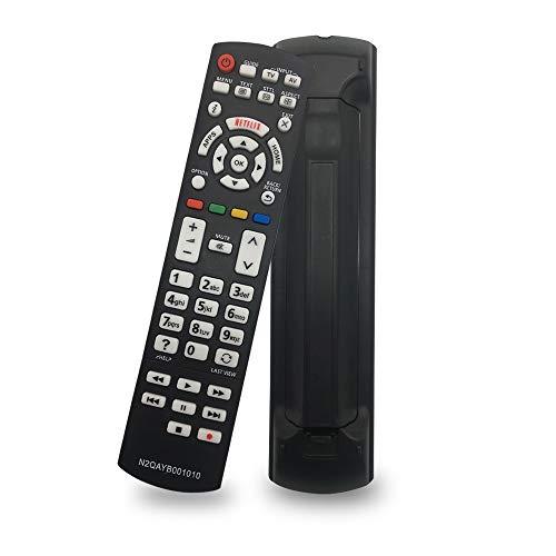 Reemplazo Control Remoto N2QAYB001010 para Mando Panasonic Viera Smart TV televisión LCD LED TVTX-32CS600E TX-40CX680E TX-32DS500E TX-40DS630E TX-40DX700E TX-40CS630E - No Requiere configuración