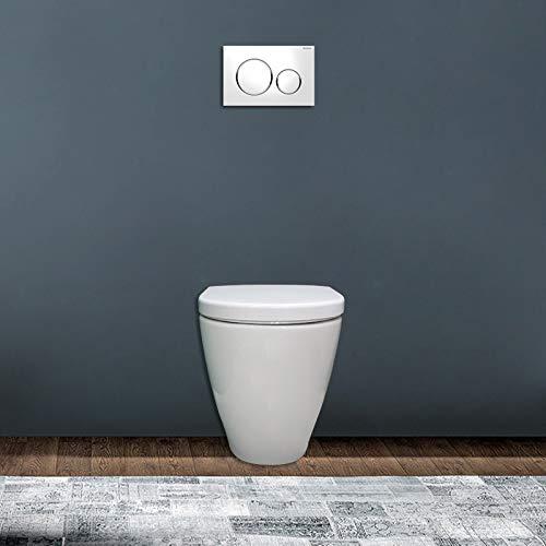 Pozzi Ginori WC filomuro rimfree Fast Bianco Coprivaso ammortizzato Incluso
