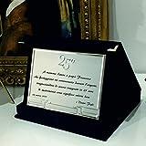 Generico Targa Idea Regalo 25 Anni di Matrimonio Nozze d'Argento Stampa Personalizzata