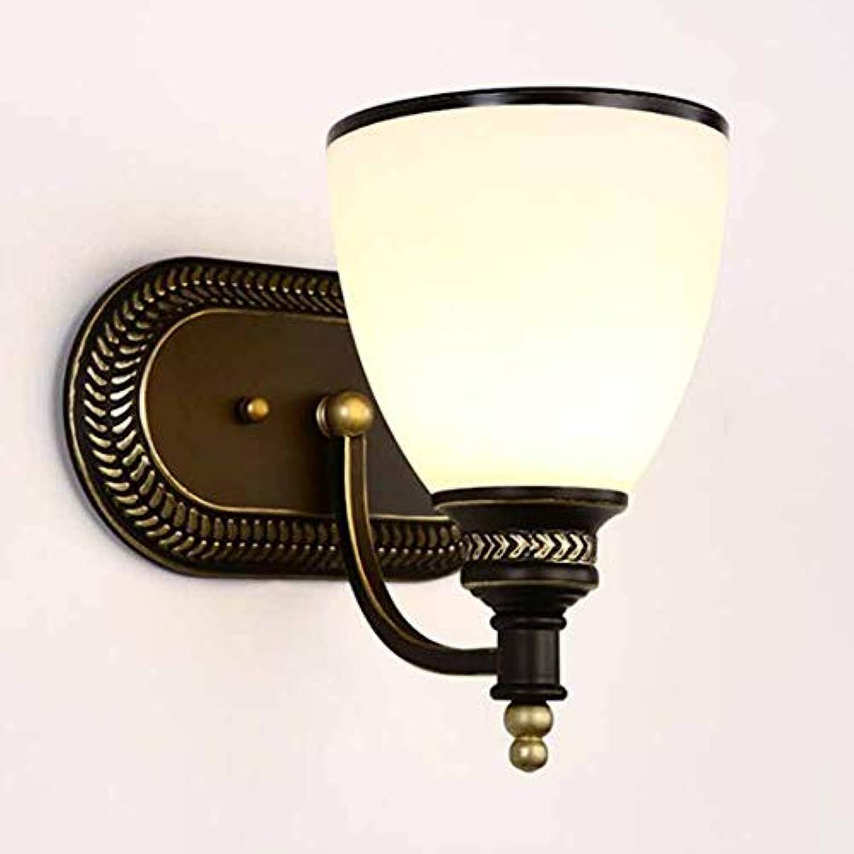 LL Wall Lamp Retro Einfache Einzelkopf-Kunst-Kunst-Kunst-KunstCreative für Spiegelfront Wohnzimmer-Korridor Beleuchtung Sconce,Weiß,15x28cm
