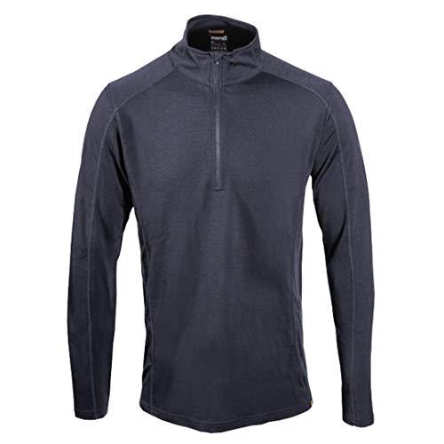 point6 Men's Merino Base Layer Long Sleeve Mid 1/4 Zip Top Black