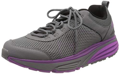 MBT Womens Colorado 17 Grey/Purple Rocker Bottom Fitness Walking Shoe Size 7.5