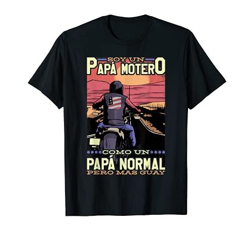 Soy un Papá Motero como un Papá Normal pero Mas Guay Camiseta