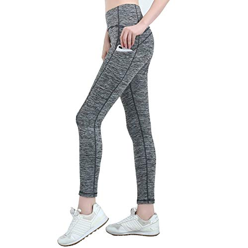 Womens Yoga Leggings with Pockets AndyAnne Upgrade High Waist Tummy Control Plus Size Sport Leggings Running Tights Training Pants Non See through Casual TrousersXSGreyHidden Pocket