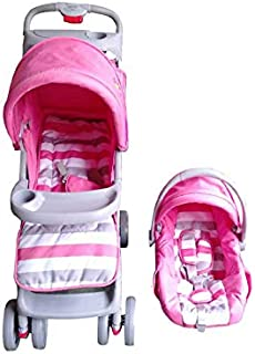 Baby Love Stroller With Car Seat-27-5-19, PINK