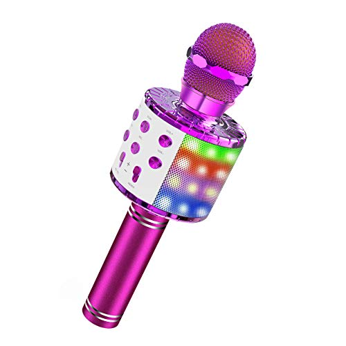 ATOPDREAM Mikrofon Kinder, Geschenke für Mädchen 4-12 Jahre Mädchen Spielzeug Mädchen Geschenk Spiele ab Weihnachts Geschenke für Mädchen 3-12 Jahre Spielzeug für Jungen Mädchen 3-12 Jahre