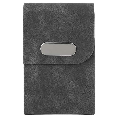 Portatarjetas - Bolsillo metálico para Estuche con portatarjetas de crédito a Prueba de Billetera(Negro)