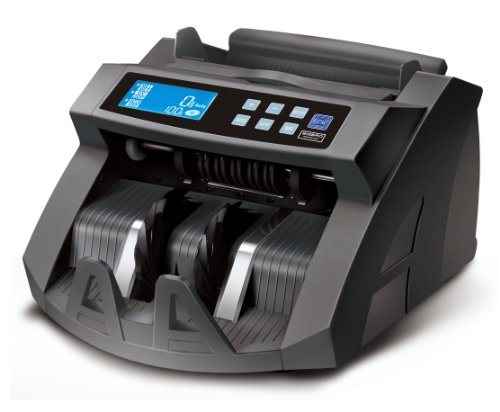 Contador de Dinero BisBro Technology BB-2150C | Cuenta y Verifica más rápido | Cuenta de Forma fiable 1000 Billetes por Minuto | Reconoce Billetes Falsos al Instante |...