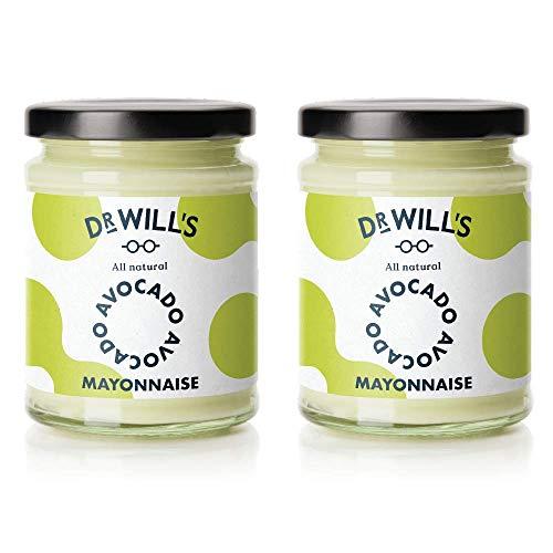 Dr Will's Natürliche Avocado Mayonnaise im Doppelpack - Ideal für Keto- und Paläo-Diät - Zuckerfrei, Glutenfrei und Milchfrei - 2 x 240g Gläser