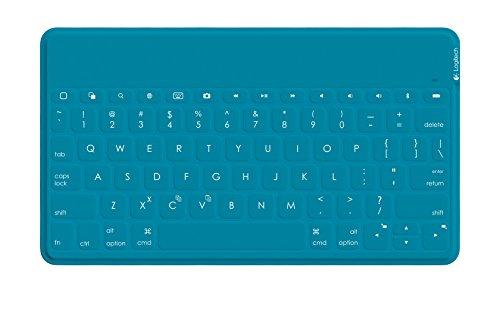 Logitech Keys-to-Go Clavier QWERTY portatif pour Apple iPad, iPhone, Apple TV Bleu