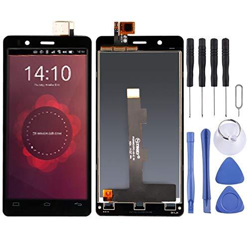 XINGCHEN Piezas de Repuesto Pantalla LCD y digitalizador Asamblea Completa de BQ Aquaris E4.5 (Negro) (Color : Black)
