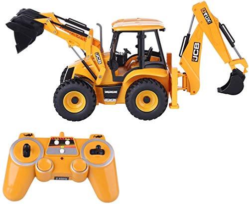 RC retroexcavadoras y carretillas Elevadoras Regalo Control Remoto 2-en-1 para niños y Adultos,Yellow