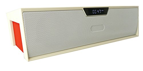 Emartbuy   White SoundBox Portable Bluetooth Wireless Speaker With Mic Suitable For Acer Iconia One B1-850 8 Inch Tablet