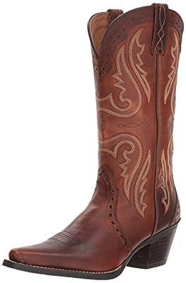 Ariat Women's Women's Heritage Western X Toe Boot, Vintage Carmel, 8 B US