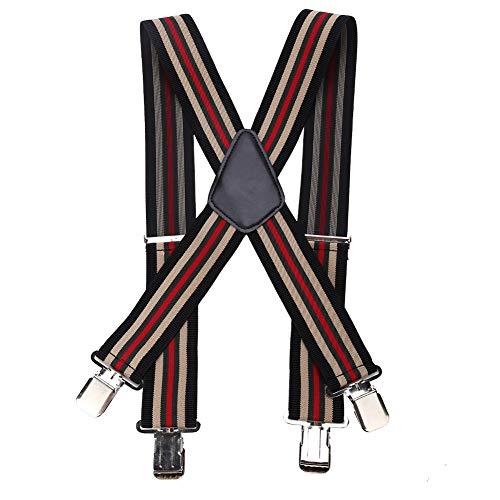 JULYKAI Stripe Gentles Brace, Wide Enough Gentles Brace, Hosenträger für Männer für Damen