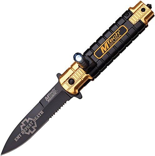 Mtech MTA859OR Cuchillo Tascabili,Unisex - Adulto, Negro, un