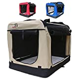 Hundetransportbox faltbar Transportbox für Hunde Hundebox Auto - Dogi Kennel - 6 Größen - 3...