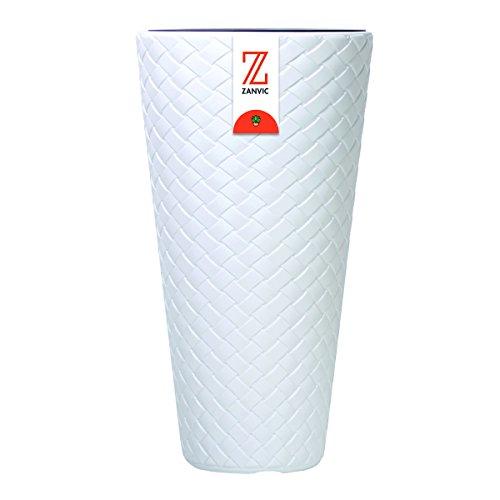 Zanvic Maceta Alta Matuba Slim 400, 40 x 78 cm, Blanco, 40x40x78 cm, ZA361