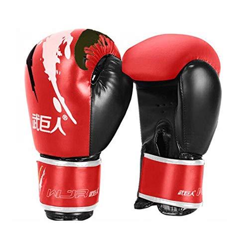Ykun Erwachsene Boxhandschuhe, Sanda-Handschuhe, Muay Thai, Taekwondo-Handschuhe, Männer und Frauen, die Sandsackhandschuhe trainieren, Halbfinger-Kampfhandschuhe-A2_10 Unzen