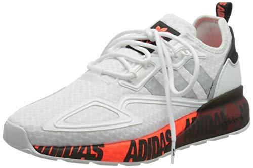 adidas ZX 2K Boost, Zapatillas Deportivas Hombre, FTWR White Silver Met Core Black, 44 2/3 EU