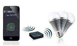 "CASAcontrol WiFi Leuchtmittel: WiFi-Beleuchtungs-System""Weiß"" inkl. 3 LED-Lampen, E27 (WiFi-LED-Birnen E27)"