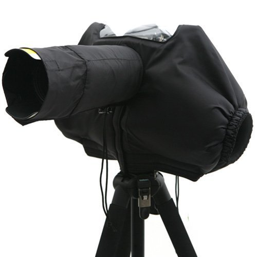 Matin Dslr Camera Video 200mm Lens Deluxe Rain Snow Warm Padded Cover Protector Professional Bag Black