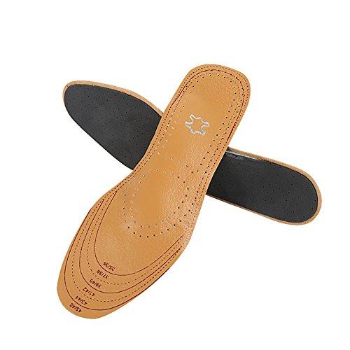 Boowhol-- Semelles intérieure en Sueur rembourré Pleine Absorption de Choc de Latex Femme Casual Sports Pad Complet (1 Paire)