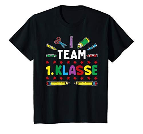 Kinder Einschulung TEAM 1.KLASSE Geschenk Erster Schultag Lustiges T-Shirt