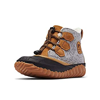 Sorel Out N About Plus Boot - Girls  Quarry/Camel Brown 4.0