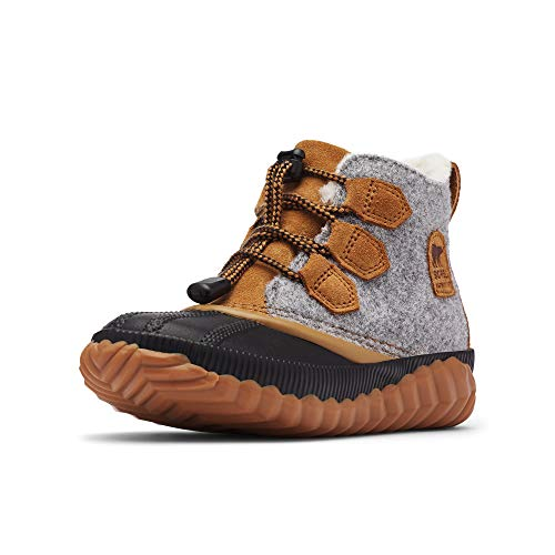 Sorel Kids Girl's Out 'N About Plus (Little Kid/Big Kid) Quarry/Camel Brown 5 Big Kid