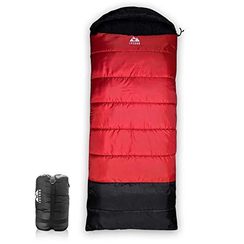 IVEQRR schlafsack winter |3-4 Saison| Outdoor daunenschlafsack für Camping und Bergsteigen mit Ultraleichter und Ultrakompakter- Extreme Temperatur-10