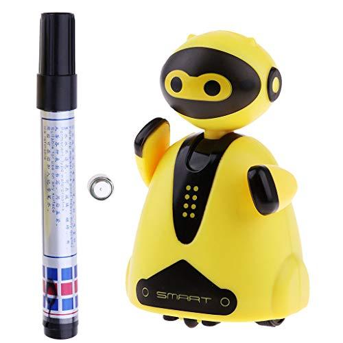 Perfeclan Kunststoff Magische Stift Induktive Intelligente Roboter Auto Induktion Kinder Spielzeug Gelb