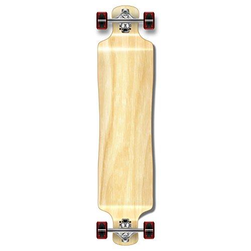 Yocaher Blank/Checker Complete Lowrider Skateboards Longboard Cruiser Black Widow Premium 80A Grip Tape Aluminum Truck ABEC7 Bearing 70mm Skateboard Wheels (Complete - Lowrider - 02 - Natural)