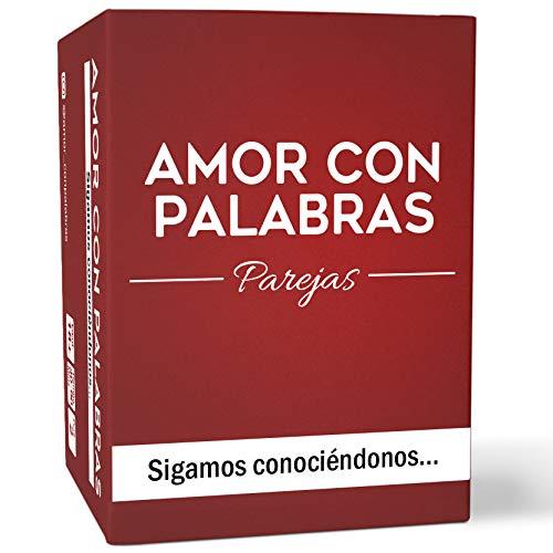 AMOR CON PALABRAS - Parejas - Sigamos conociéndonos  Juegos de Mesa para Dos Personas Perfectos Regalos para mi Novio o Novia