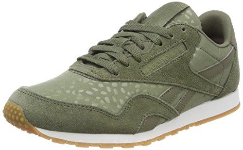Reebok Damen Classic Nylon Slim Text Lux Sneaker, Grün (Hunter Green/White/Gum), 37 EU