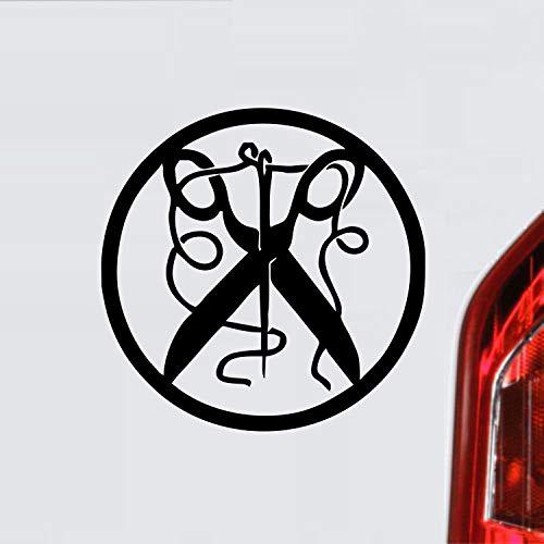 myrockshirt Schneider Zunftzeichen Wappen Symbol Handwerk ca. 20 cm Aufkleber,Autoaufkleber,Sticker,Decal,Wandtattoo, aus Hochleistungsfolie,UV&waschanlagenfest,Lack,Scheibe,Wandtattoo,