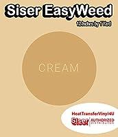 Siser EasyWeed アイロン接着 熱転写ビニール - 12インチ 1 Yard クリーム HTV4USEW12x1YD