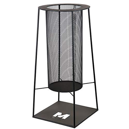 RM Design Feuerschale aus Metall Terrassenofen für den Garten in schwarz 34 cm