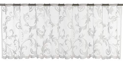 Elbersdrucke Cosima 00 Bistrogardine, Polyester, weiß, 45 x 160 cm