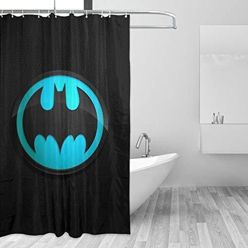 Why So Serious Joker Batman Duschvorhang 167,6 x 182,9 cm Zimmer Badezimmer Duschvorhang-Sets Kleine Textur Wasserdicht Badvorhang
