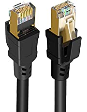 CableCreation Cat 8 Ethernet Cable, Network Patch Cable 40 Gigabit 2000MHz SFTP Internet LAN Wire High Speed Cable Cord for Modem, Router, PS3, PS4, Xbox, Black (49.6ft)