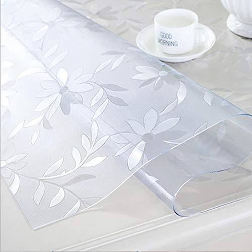 Mantel de PVC de Gjhfuk, impermeable, protector de mesa, lavable, resistente al agua, pvc, flower, 80*80cm