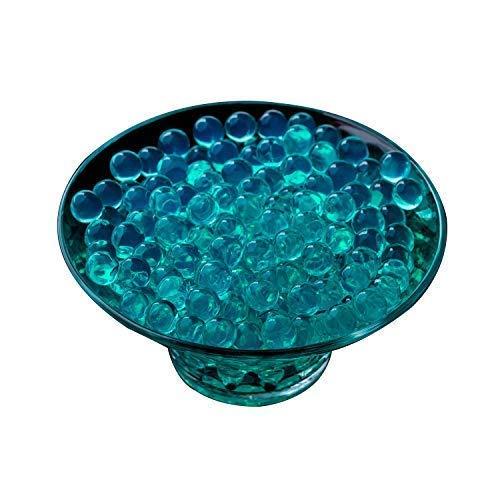 Trimming Shop 50G Wasserperlen Aqua Kirstall Boden Gel Knäuel Vase Blumen Schlamm Herzstück New Absorbierend Rund Heimdekoration Türkis