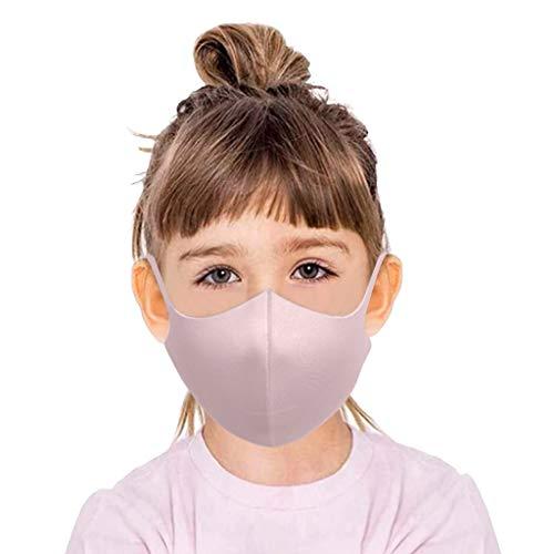 Supertong 6 Stück Kleinkinder Kinder Mundschutz Bequem Stoff Face Cover Tägliche Pflege Gesichtsschutz Wiederverwendbar Waschbar Atmungsaktiv Mundbedeckung Einfarbige Staubdicht Face Shield (Rosa)