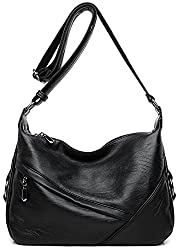 A black shoulder bag with classic design this medium size purse is another great comfortable bag to hold