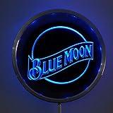 Design4LED Blue Moon Beer Bar Pub 10 Inches Circle LED Neon Light Sign Blue
